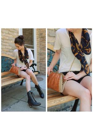 Jeffrey Campbell boots - rope print vintage scarf - snakeskin vintage bag - Alex