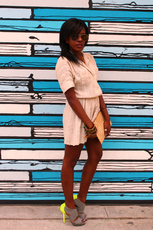 strappy diy Zara shoes - safari inspired Market Publique dress