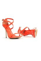 carrot orange leather trim Speciallittletouch heels