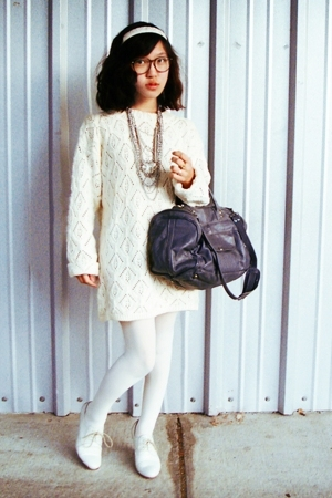 Gap sweater - random from macys tights - Rachel Comey shoes - vintage purse - H&