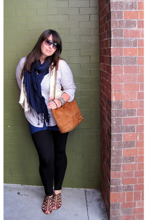 Urban Outfitters scarf - vintage chanel purse - the gap shirt - Dolce Vita shoes