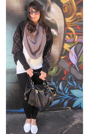 Filippa K scarf - Anzevino & Florence sweater - American Apparel shirt - Theory