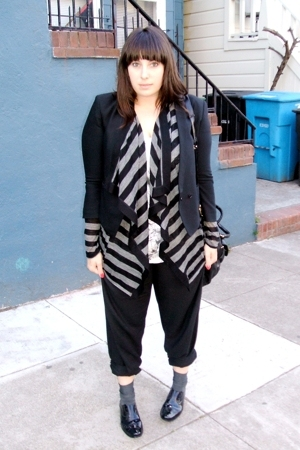 Helmut Lang blazer - Helmut Lang sweater - Rory Beca pants