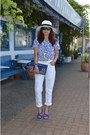 White-ripped-zara-jeans-blue-cropped-zara-top-blue-suede-zara-heels