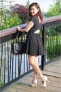 Cutout-dress-zara-dress-chanel-bag-guess-sandals