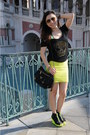 Lime-green-mini-skirt-ever-new-skirt-lime-green-h-m-wedges-black-t-shirt