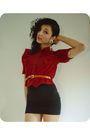 Red-vintage-shirt-black-american-apparel-dress-orange-vintage-belt-gold-vi