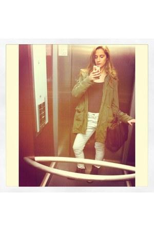 parka Dunnes coat - River Island boots - Primark jeans - H&M shirt - Zara bag