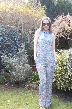 Zara romper - Primark shirt - aviators Ray Ban sunglasses