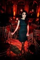 jacquard Zara dress - suede Zara heels