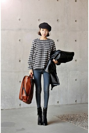 black Ssongbyssong blouse - teal Ssongbyssong jeans - black Ssongbyssong jacket