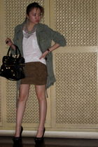 Zara jacket - michael antonio shoes - balenciaga bag - tory burch shoes - Chanel