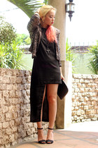 black romwe dress - sequined pinkaholic blazer