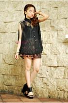 leopard pinkaholic shorts - sheer pinkaholic blouse