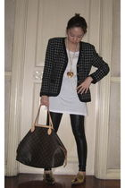 cru accessories - christian dior blazer - Mango leggings - Forever 21 shoes