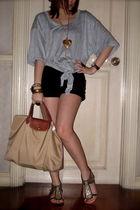 Pinkaholic Fashionshoppe top - Topshop shorts - longchamp