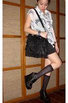 pinkaholic fashion shoppe top - Forever 21 shorts - Mango bag