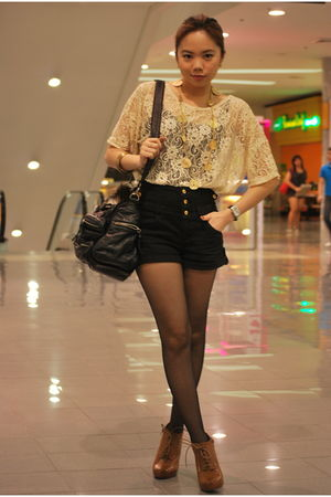 Forever 21 shoes - Forever 21 top - Topshop shorts