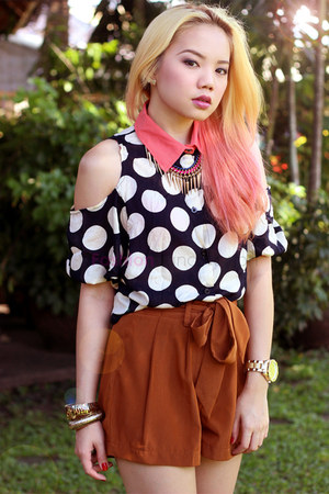 polka dots pinkaholic top