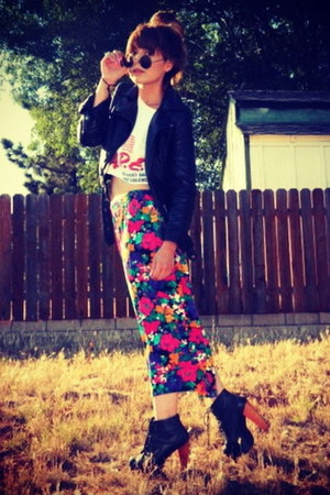thrifted vintage skirt - litas Jeffrey Campbell shoes