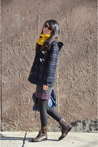 rag & bone dress - Gloverall coat - JCrew tights - Club Monaco scarf