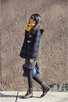 rag & bone dress - Gloverall coat - JCrew tights - Club Monaco scarf