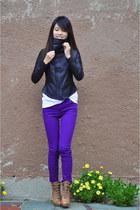 H&M jeans - leather jacket Dallin Chase jacket