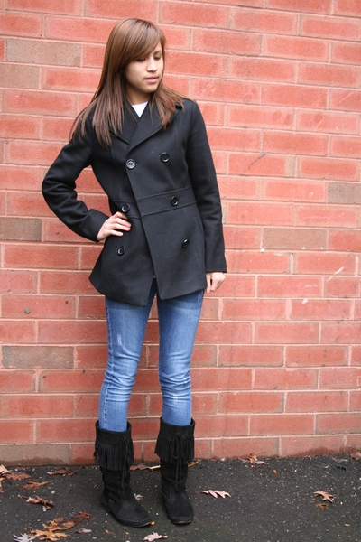 Kenneth Cole coat - jeans - Steve Madden boots