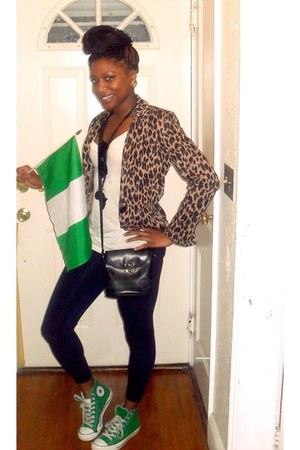 basic Forever 21 leggings - leopard print Spiegel blazer