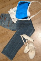 blue Seven For All Mankind jeans - white C&C California top