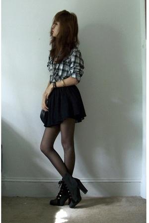 H&M shirt - f21 skirt - Colin Stuart