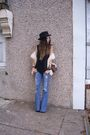 Black-urban-outfitters-t-shirt-brown-inc-vest-blue-lucky-brand-jeans