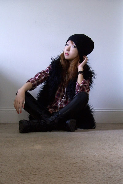 H&amp;M hat - lucky shirt - vest - members only - payless