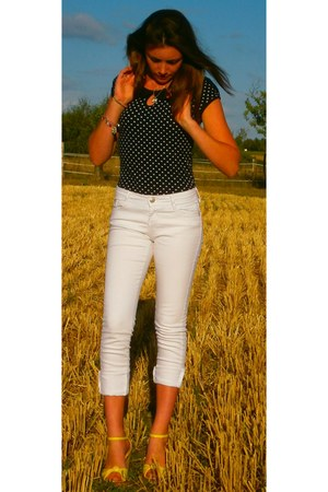skinny jeans Primark jeans - next t-shirt - dotty Primark wedges