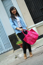 Pink mafia boots - JJeans jacket - Ambiance shirt - Marc fashion pants
