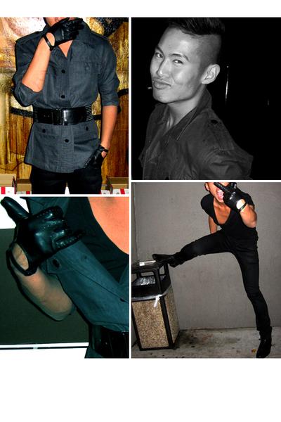 Marc by Marc Jacobs jacket - Prada jeans - Diesel belt - American Apparel t-shir