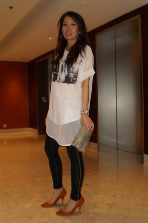 t-shirt - leggings - Zara shoes