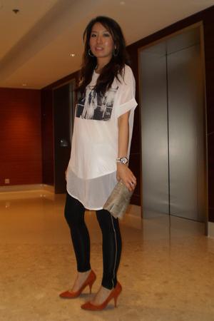t-shirt - leggings - Zara shoes