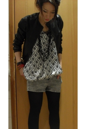 Isabel Marant jacket - blouse - shorts - boots