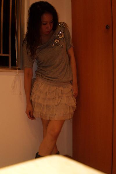 H&M t-shirt - skirt - Zara boots