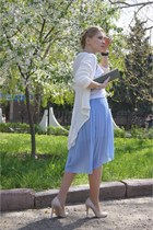 Zara skirt - Mango bag - Forever 21 necklace - made by myself cardigan