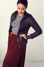 Crimson-maxi-zara-skirt-deep-purple-leather-diesel-jacket-tawny-h-m-belt