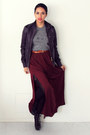 Deep-purple-leather-diesel-jacket-tawny-h-m-belt-crimson-maxi-zara-skirt