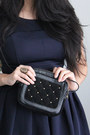 Navy-skater-bb-dakota-dress-black-studded-bag-asos-purse