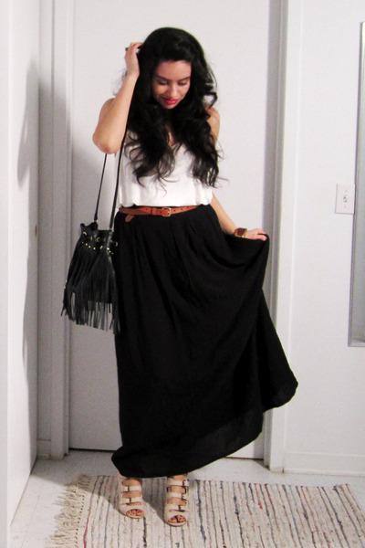 Forever 21 shirt - H&M purse - H&M belt - asos sandals - H&M skirt