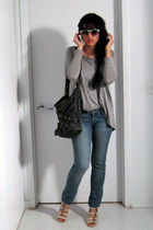 neutral asos shoes - Mango jeans - heather gray H&M shirt - Urban Outfitters pur