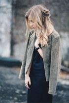 Zara boots - Zara dress - Forever 21 jacket - Zara earrings
