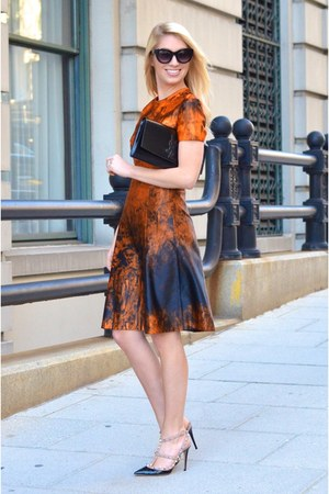 black YSL bag - carrot orange PROENZA SCHOULER dress