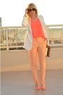 Gold-straw-gap-bag-white-wide-lapel-zara-blazer-hot-pink-h-m-top