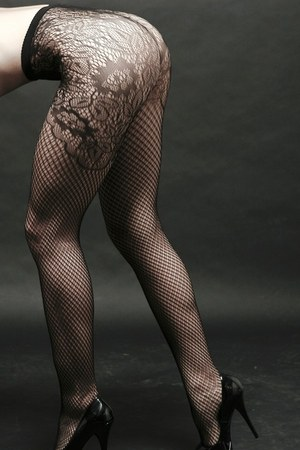 floral fishnets Yelete stockings